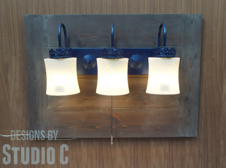 How to Make a Wall Mounted Lighting Piece_Lighted