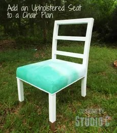 Changing A Chair Seat From Plywood To Upholstery