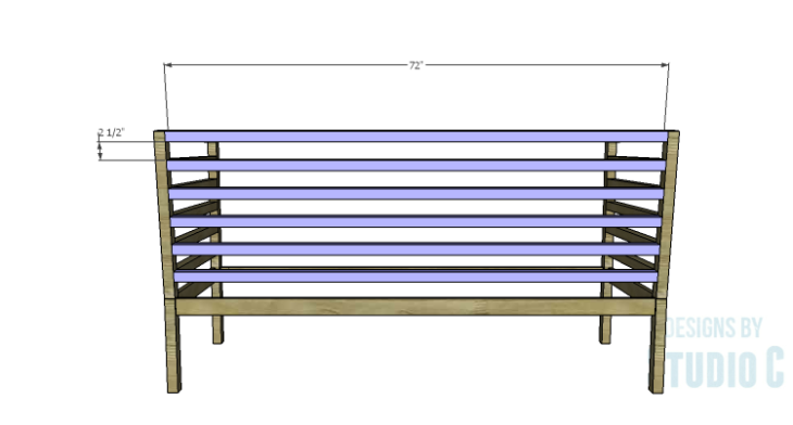 DIY Plans to Build a Penn Outdoor Daybed_Back Slats
