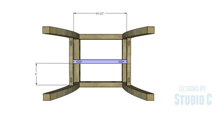 DIY Plans to Build a Pi Footstool_Center Stretcher