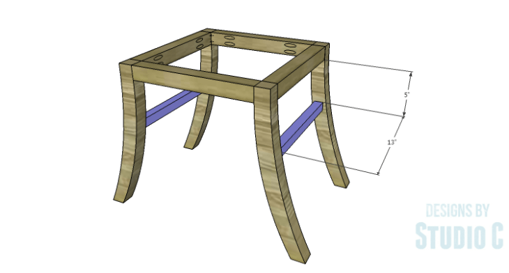 DIY Plans to Build a Pi Footstool_Stretchers