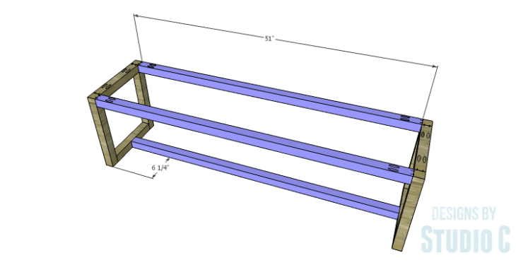 DIY Plans to Build a Katherine Buffet_Base Long Stretchers