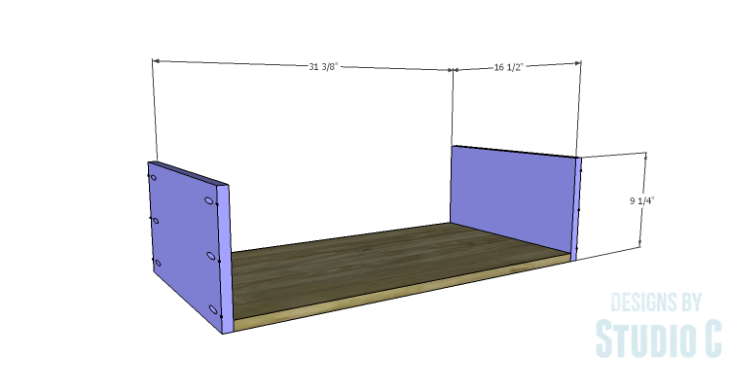 DIY Plans to Build a Port Modern Dresser_Drawer BS