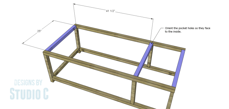 DIY Plans to Build a Bernard Coffee Table_Upper Stretchers
