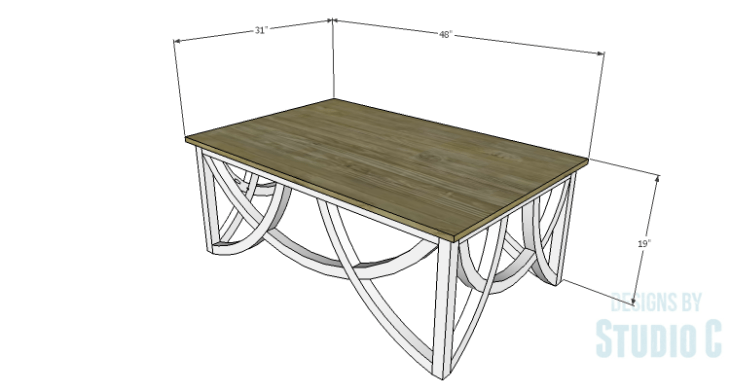 DIY Plans to Build a Curved Base Coffee Table
