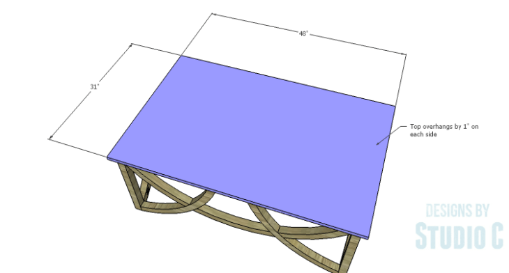 DIY Plans to Build a Curved Base Coffee Table_Top