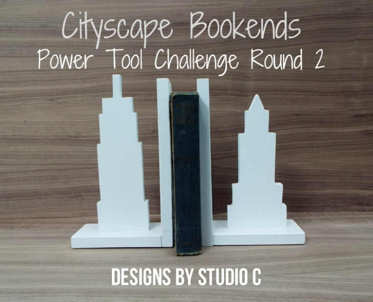 Cityscape Bookends for the Power Tool Challenge_Featured