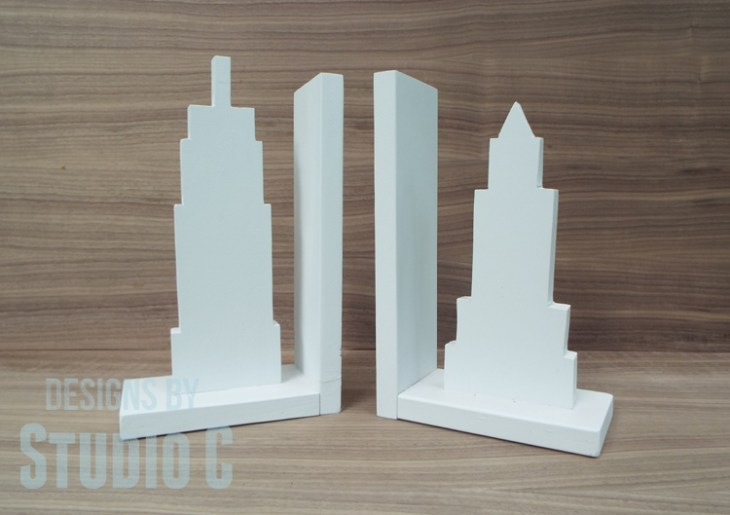 Cityscape Bookends for the Power Tool Challenge_Finished
