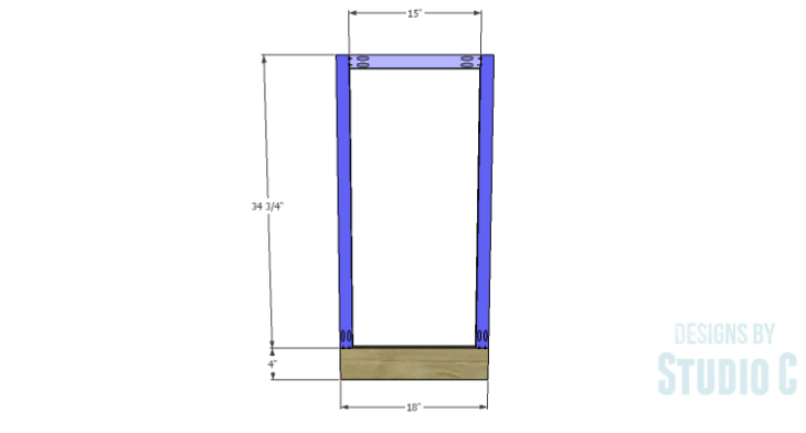 DIY Plans to Build a Hanson Media Console_Outer Frames 1