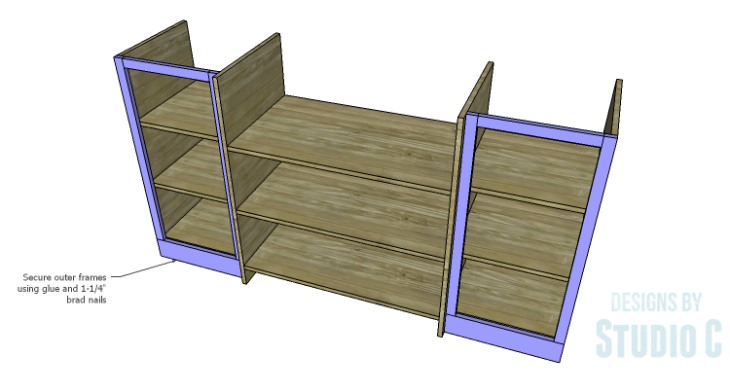 DIY Plans to Build a Hanson Media Console_Outer Frames 2
