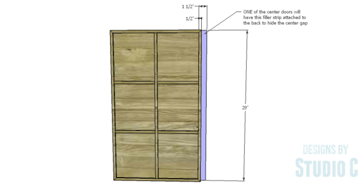 DIY Plans to Build a Long Paneled Sideboard_Center Filler