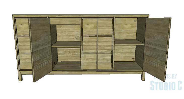 DIY Plans to Build a Long Paneled Sideboard_Copy 2