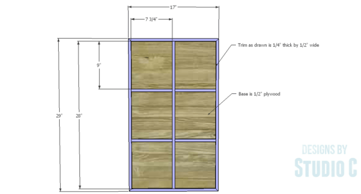 DIY Plans to Build a Long Paneled Sideboard_Doors 1