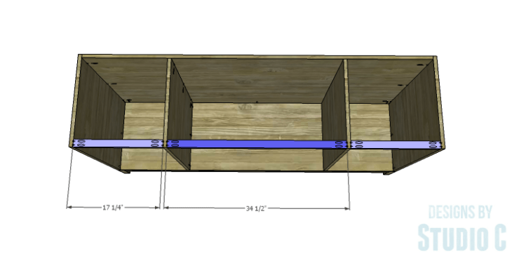 DIY Plans to Build a Long Paneled Sideboard_Stretchers