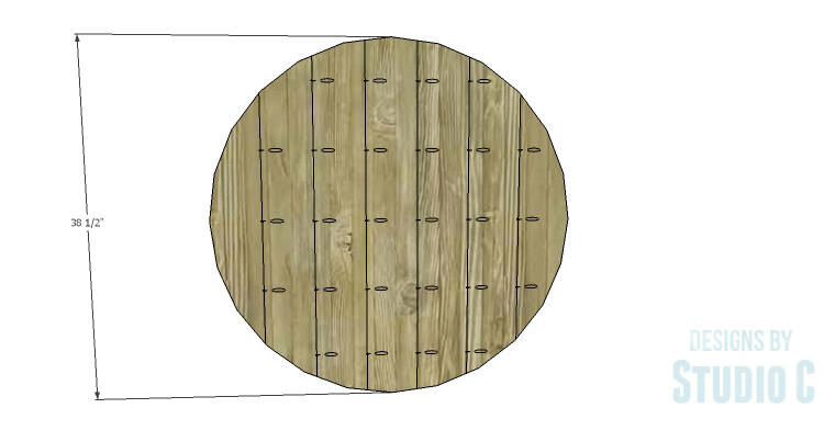 DIY Plans To Build A Round Rustic Coffee Table Top 1