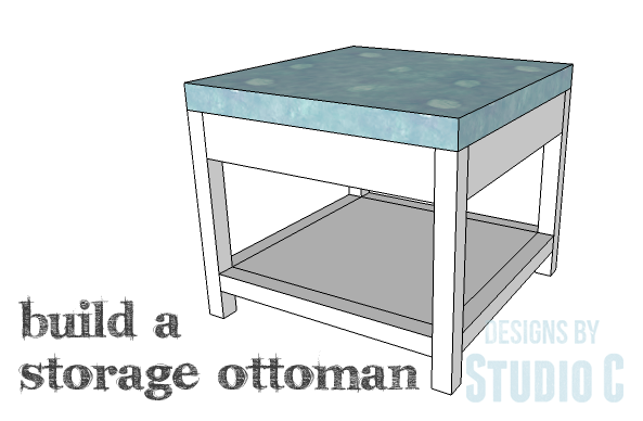 DIY Plans to Build a Storage Shelf Ottoman_Copy  sc 1 st  Designs by Studio C & A Simple to Build Ottoman with Storage |