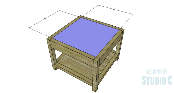 DIY Plans to Build a Storage Shelf Ottoman_Top Panel