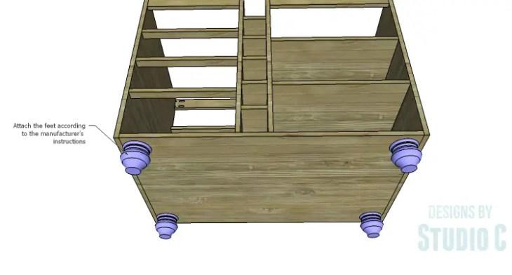 DIY Plans to Build a Carey Kitchen Island_Feet