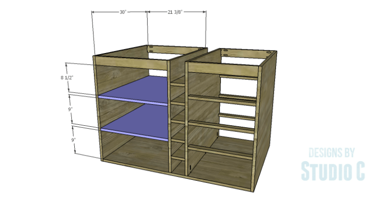 DIY Plans to Build a Carey Kitchen Island_Shelves