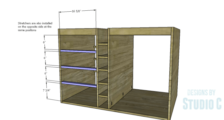 DIY Plans to Build a Carey Kitchen Island_Stretchers