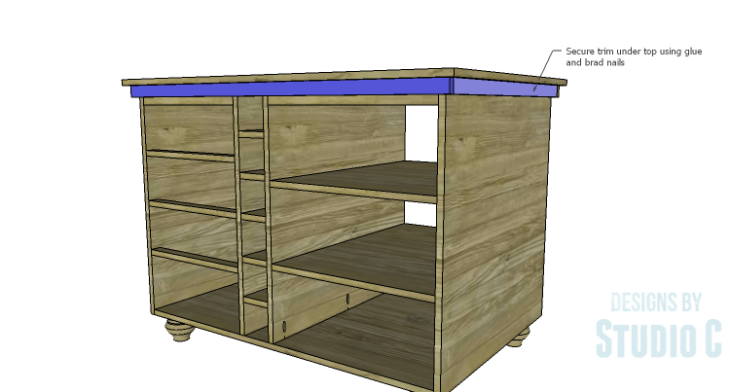 DIY Plans to Build a Carey Kitchen Island_Trim