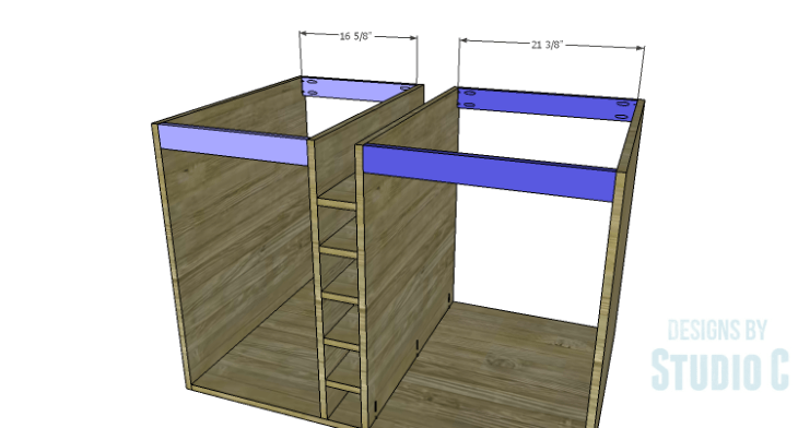DIY Plans to Build a Carey Kitchen Island_Upper Stretchers