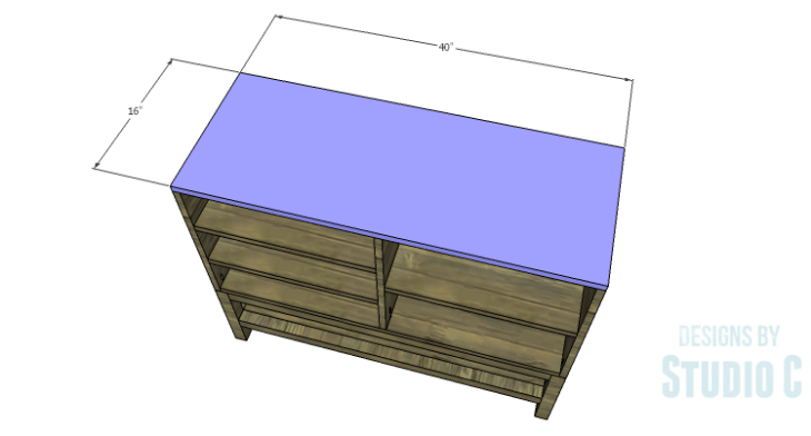 DIY Plans to Build a Caroline Buffet_Top