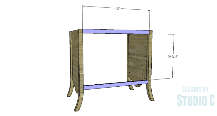 DIY Plans to Build a Celia Dresser_Back Stretchers