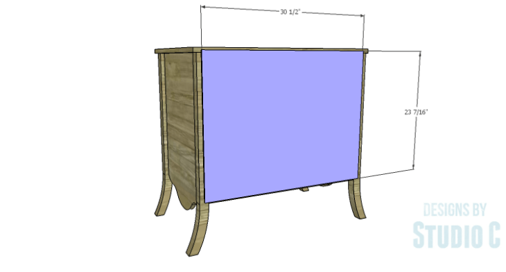 DIY Plans to Build a Celia Dresser_Back