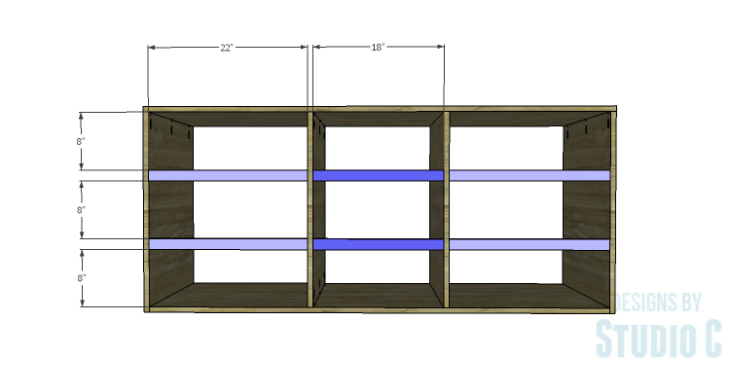 DIY Plans to Build a Mayweather Dresser_Front Stretchers