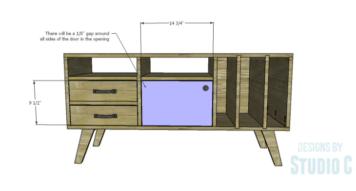 DIY Plans to Build a Mid Century Modern Cabinet_Door