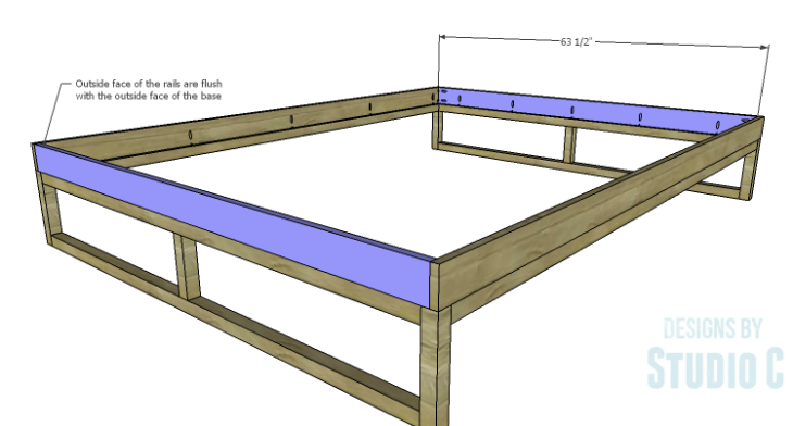 DIY Plans to Build a Modern+Rustic Queen Platform Bed_Rails 2