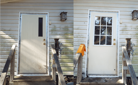 Install a Glass Panel in a Mobile Home Door_Side by Side