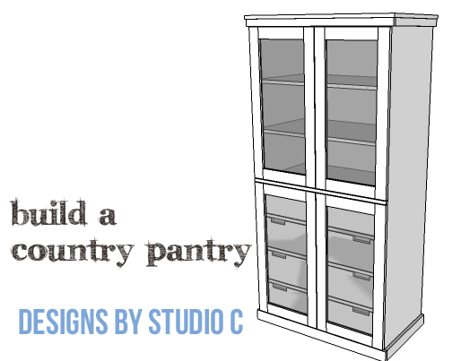 An easy to build simple country style pantry for Pantry building plans