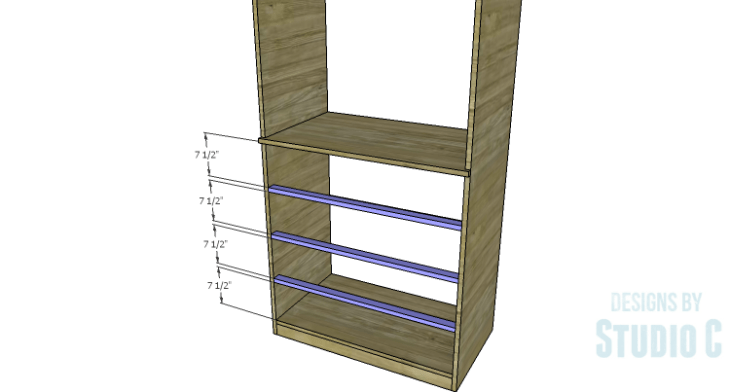 DIY Plans to Build a Country Pantry_Lower Stretchers