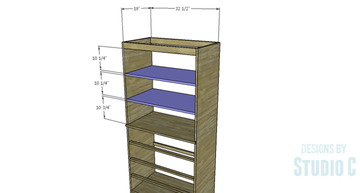 DIY Plans to Build a Country Pantry_Upper Shelves