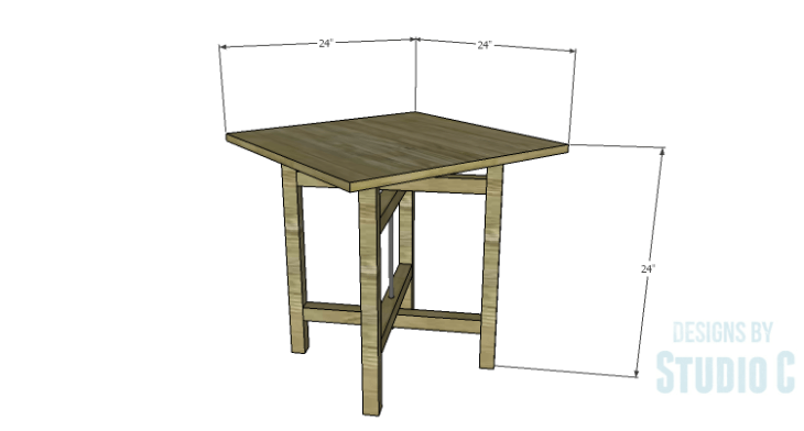 DIY Plans to Build a Cross-Leg End Table