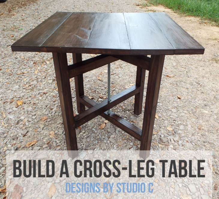 DIY Plans to Build a Cross-Leg End Table_Featured