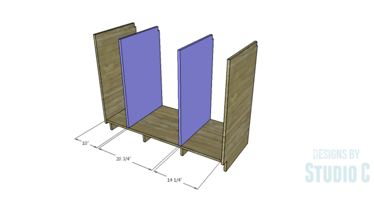 DIY Plans to Build a Bath Vanity with a Built-In Clothes Hamper_Dividers 2