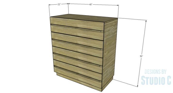 DIY Plans to Build a Mayweather Tall Dresser