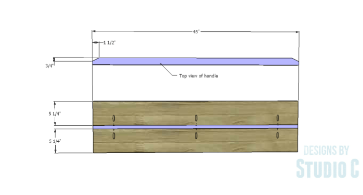 DIY Plans to Build a Mayweather Tall Dresser_Drawer Fronts 1