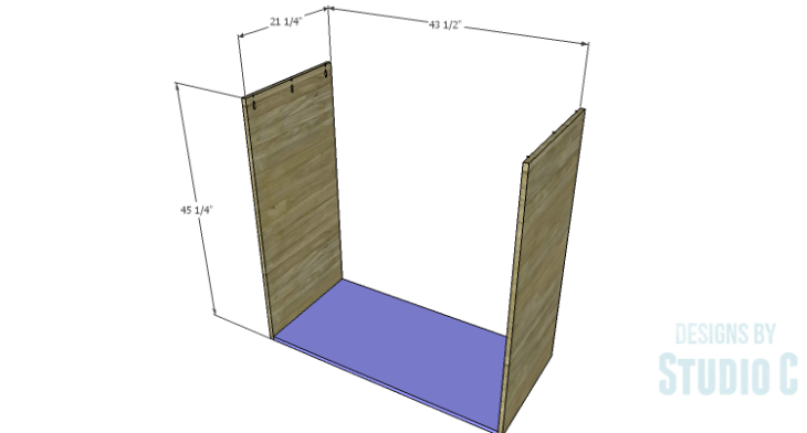 DIY Plans to Build a Mayweather Tall Dresser_Sides & Bottom