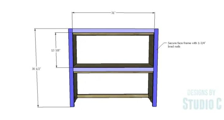 DIY Plans to Build a Brecken Dresser Hutch-Face Frame