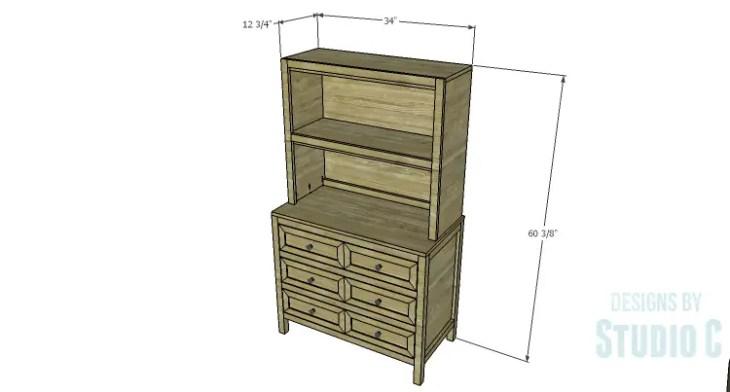 DIY Plans to Build a Brecken Dresser Hutch