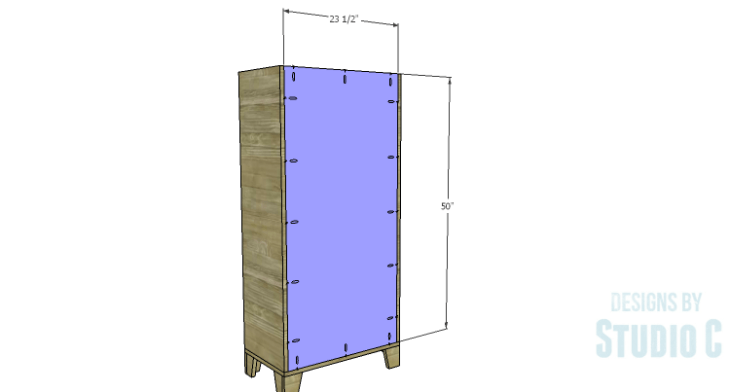 DIY Plans to Build a Coat Cabinet-Back