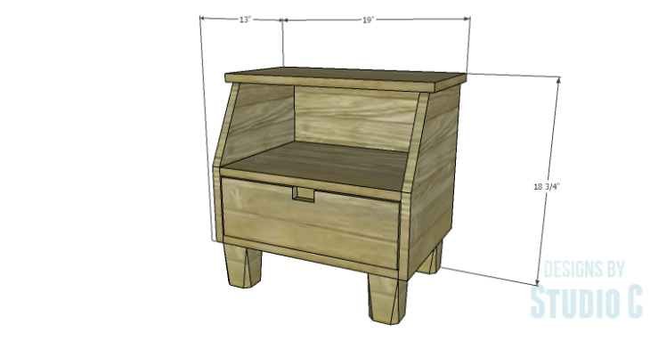 DIY Plans to Build a Cole Nightstand