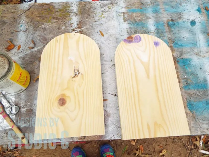 DIY Textured Wood Gravestone Signs-Unfinished