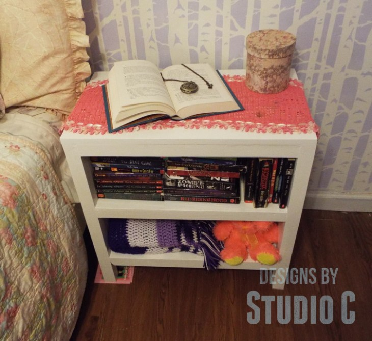 DIY Plans to Build Hannah's Nightstand-Downward View