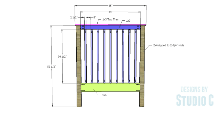 DIY Plans to Build a Delilah Twin Bed-Headboard