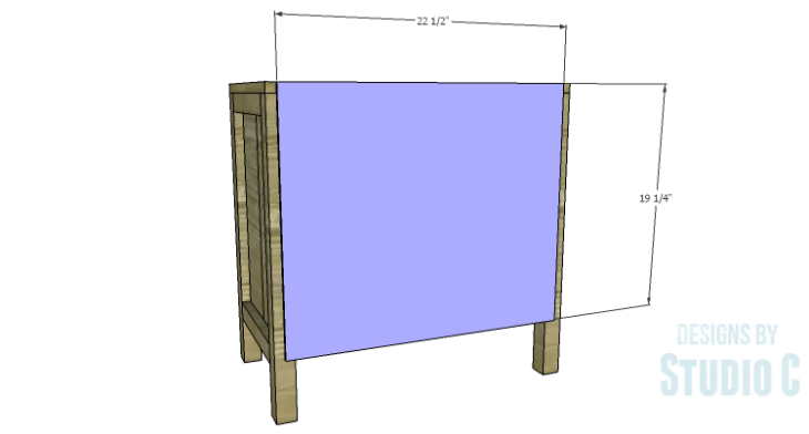 DIY Plans to Build Hannah's Nightstand-Back